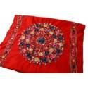 Grand Châle rouge - Cachemire broderie Pashmina - Foulard - Etole 200 X 70