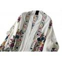 Grand Châle Blanc - Cachemire broderie Pashmina - Foulard - Etole 200 X 70