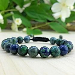 Bracelet tressé Shamballa Perles Naturelles pierre de Phoenix - Homme Femme - Lithothérapie