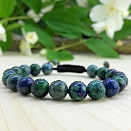Bracelet tressé Perles Naturelles Pierre de Phoenix - Homme Femme - Lithothérapie