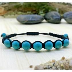Bracelet tressé Shamballa Perles Naturelles Jaspe Impérial - Homme Femme - Lithothérapie