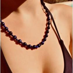 Collier + Bracelet Homme Femme perles Améthyste  Tibet - Lithothérapie
