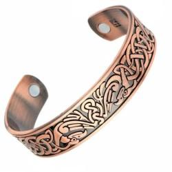 Bracelet magnétique cuivre avec 2 aimants Anti-Douleurs - Rhumatisme Arthrose
