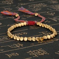 Bracelet tressé Shamballa Perles Naturelles Agate rouge - Homme Femme - Lithothérapie