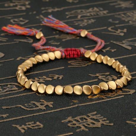 Bracelet tressé Perles Naturelles Agate rouge - Homme Femme - Lithothérapie