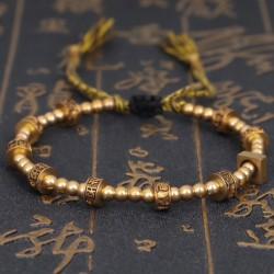 Braceletde chance Tibétain perles de cuivre
