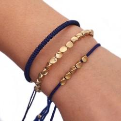 3 Bracelets de chance Tibétain perles de cuivre