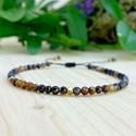 Bracelet de chance Tibétain perles de cuivre et oeil de tigre