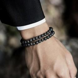 2 Bracelets Pierre de lave Naturelles