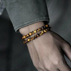 2 Bracelets  Oeil du Tigre Naturelles