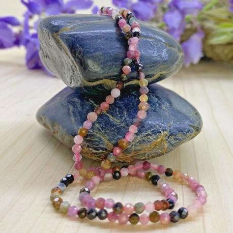 Collier en Perles Naturelles tourmaline- Lithothérapie - Ras de cou