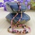 Collier en Perles Naturelles Tourmaline Rose - Lithothérapie - Ras de cou