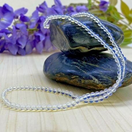 Collier en Perles Naturelles pierres Amazonite - Lithothérapie - Ras de cou