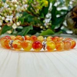 Bracelet  quartz orange tibet