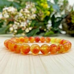 Bracelet Quartz orange Pierres Naturelles