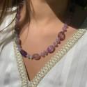 Collier en Perles Naturelles pierres Fluorite