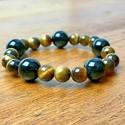 Bracelet Oeil du Tigre 8mm Obsidienne 12mm