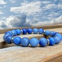 Bracelet Homme Femme Pierres Naturelles Aventurine bleu