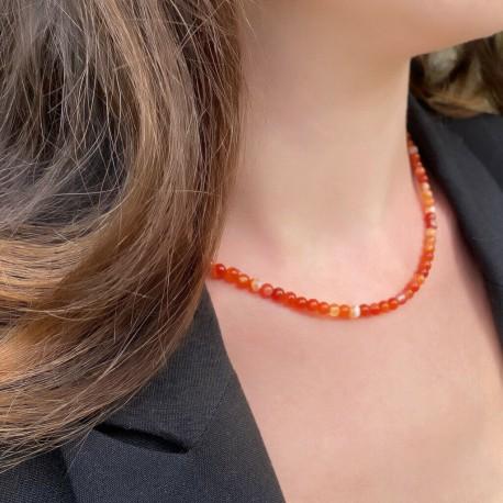 Collier en Perles Naturelles Labradorite - Lithothérapie - Ras de cou