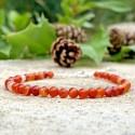 Bracelet Cornaline pierres naturelles argent 925