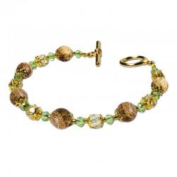 Bracelet Lagune, Jasper mat et Crystal
