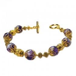 Bracelet Marmara, Améthyste et perles du Tibet