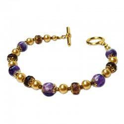 Bracelet Divine, Améthyste et Crystal