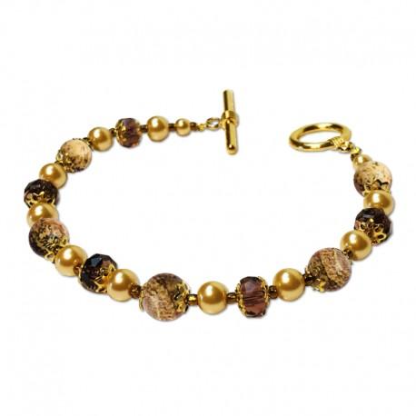 Bracelet Divine, Jasper mat et Cristal