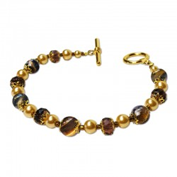 Bracelet Divine, Oeil de Tigre et Cristal