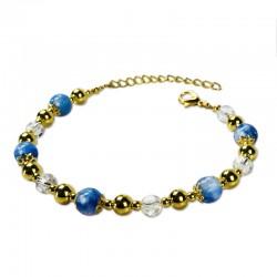 Bracelet Plume, Aventurine et Crystal