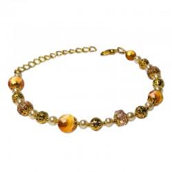 Bracelet Mystic, Cornaline et Cristal