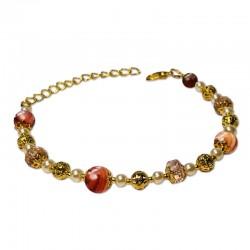 Bracelet Mystic, Jasper marron et Cristal