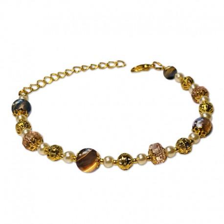 Bracelet Mystic, Oeil de Tigre et Cristal