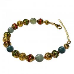 Bracelet Alchimie, Agate Indienne et Cristal