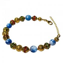 Bracelet Aventurine, Aventurine et Cristal