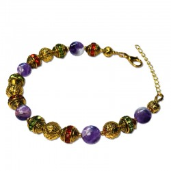 Bracelet Alchimie, Améthyste et Cristal