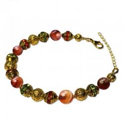 Bracelet Alchimie, Jasper marron et Cristal
