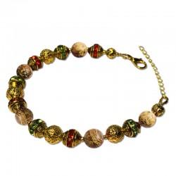 Bracelet Alchimie, Jasper mat et Cristal