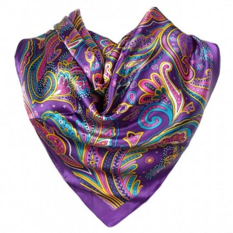 Carré de Soie foulard violet