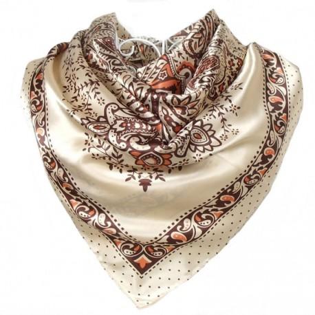 foulard soie beige