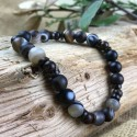 Bracelet Homme Femme Pierres Naturelles Bois de Coco Carmelian Onyx