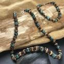 Homme Collier + Bracelet Pierres Naturelles Turquoise d'Afrique Hématite Bois