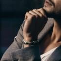 Bracelet Homme Femme Pierres Gemme Onyx Hématite bois Lithothérapie Men