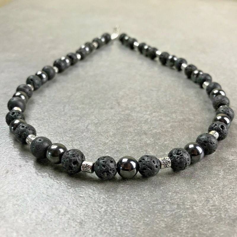 collier homme perles