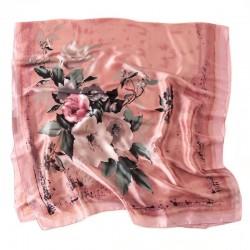 Grand Foulard en Soie Motifs Floral