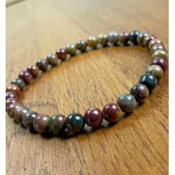 Bracelet Homme femme Jaspe Picasso - Perles Naturelles - Lithothérapie
