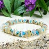Bracelet Pierres Naturelles Turquoise Nacre coquillage - Taille au choix