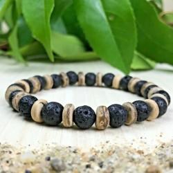 Bracelet Pierres Naturelles Lave bois - Taille au choix