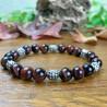 Bracelet Homme Femme Perles Naturelles Perles du Tibet Oeil de Taureau