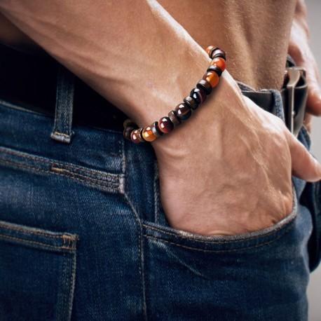 Bracelet Homme Femme Perles Naturelle Jaspe